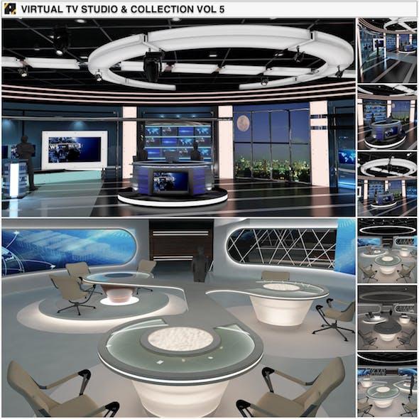 Virtual TV Studio News Sets Collection 5