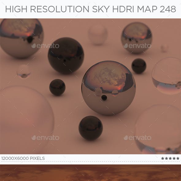 High Resolution Sky HDRi Map 248