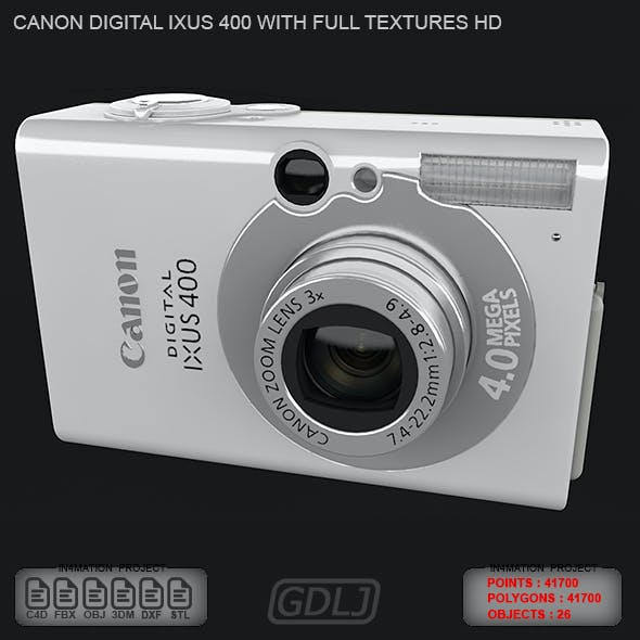 Canon Digital IXUS 400 with FULL Textures HD