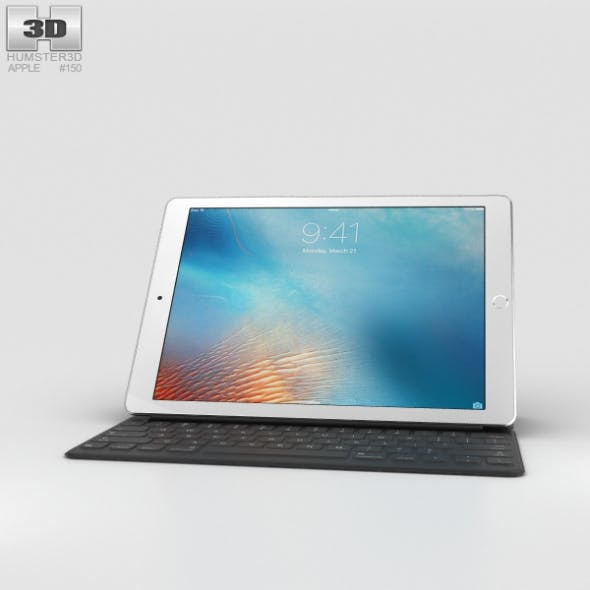 Apple iPad Pro 9.7-inch Silver - 3DOcean Item for Sale