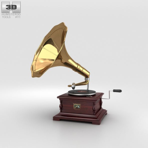 His Master's Voice Gramophone - 3DOcean Item for Sale