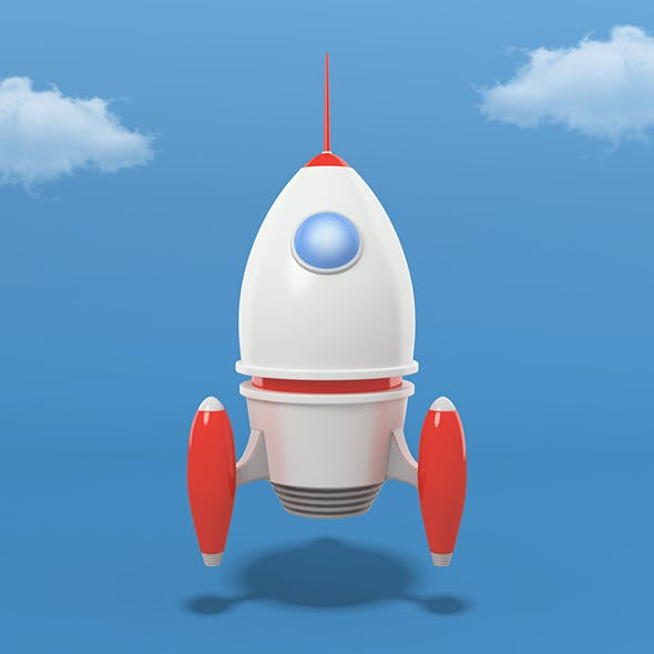 Cartoon Rocket - 3DOcean Item for Sale