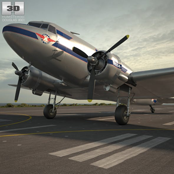Douglas DC-3 - 3DOcean Item for Sale