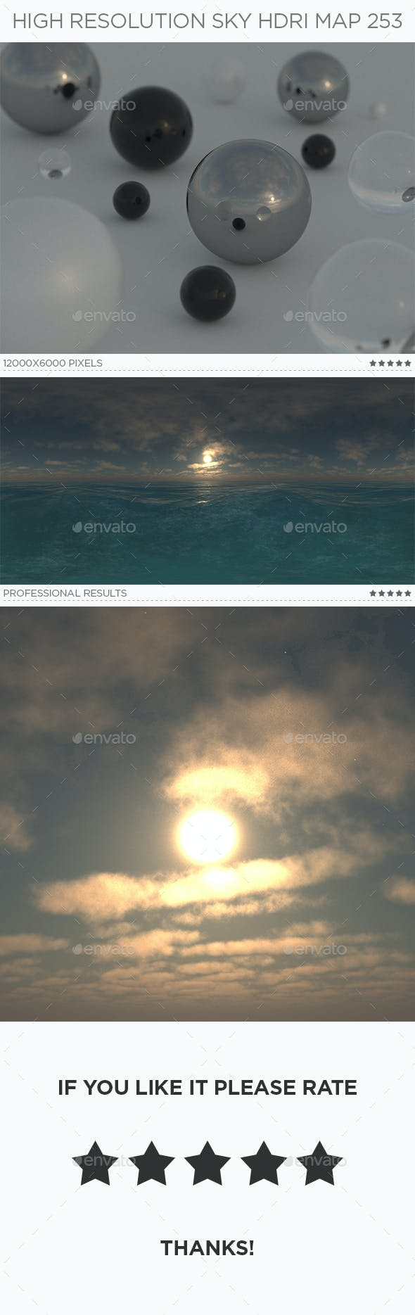 High Resolution Sky HDRi Map 253 - 3DOcean Item for Sale
