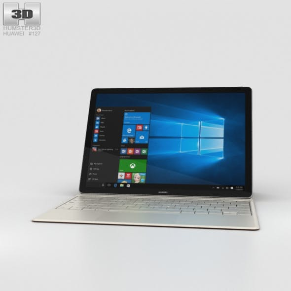 Huawei MateBook Gray - 3DOcean Item for Sale