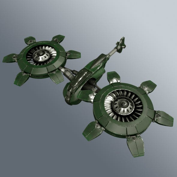 Sci-Fi helicopter - 3DOcean Item for Sale