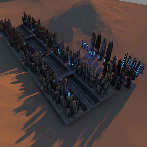 SCI FI FUTURISTIC CITY Package - 3DOcean Item for Sale