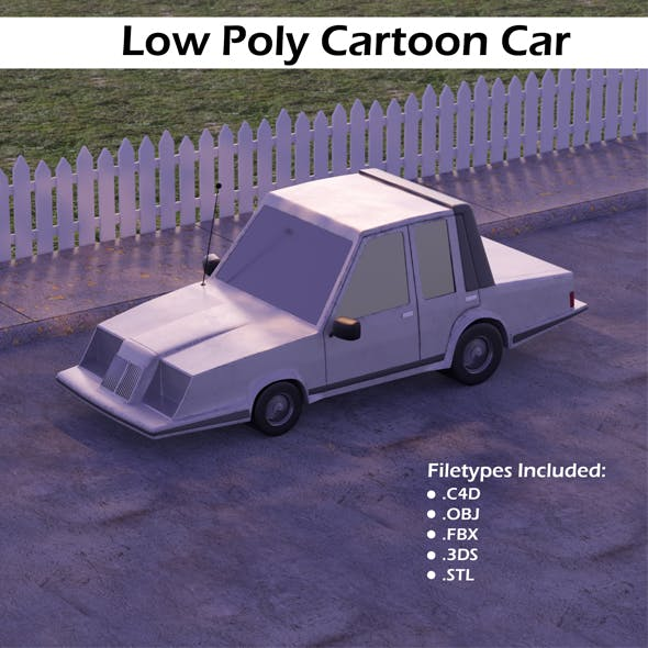 Low Poly Cartoon Car