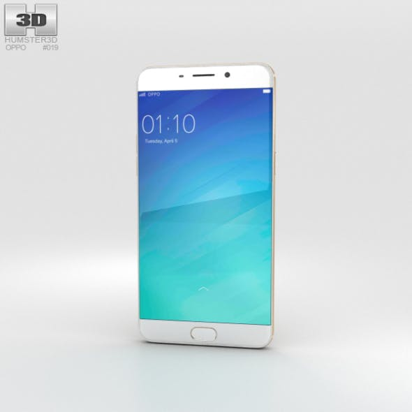Oppo R9 Plus Gold - 3DOcean Item for Sale