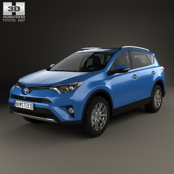 Toyota RAV4 Hybrid with HQ interior 2016 - 3DOcean Item for Sale