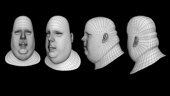 Human Head Fat Male Low Poly Base Mesh - 3DOcean Item for Sale