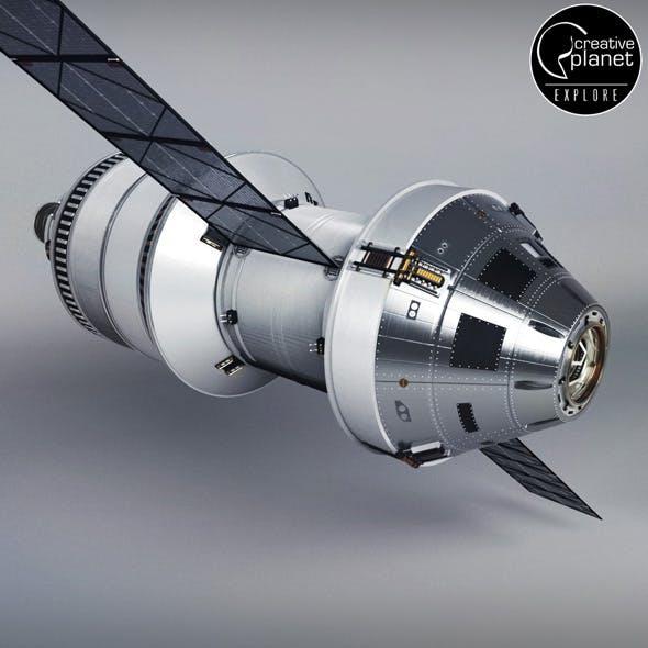 Spacecraft ship rocket - 3DOcean Item for Sale