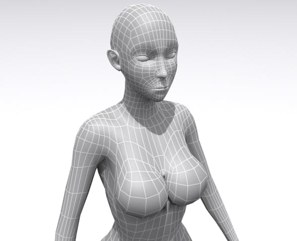 Woman - Base - 3DOcean Item for Sale