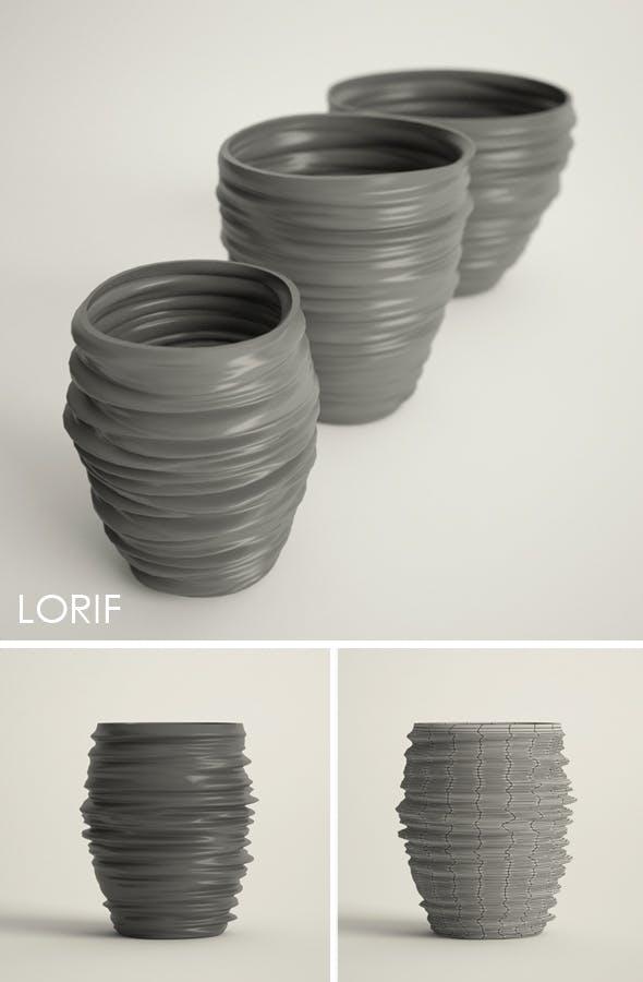 Dedon Babylon vases set - 3DOcean Item for Sale