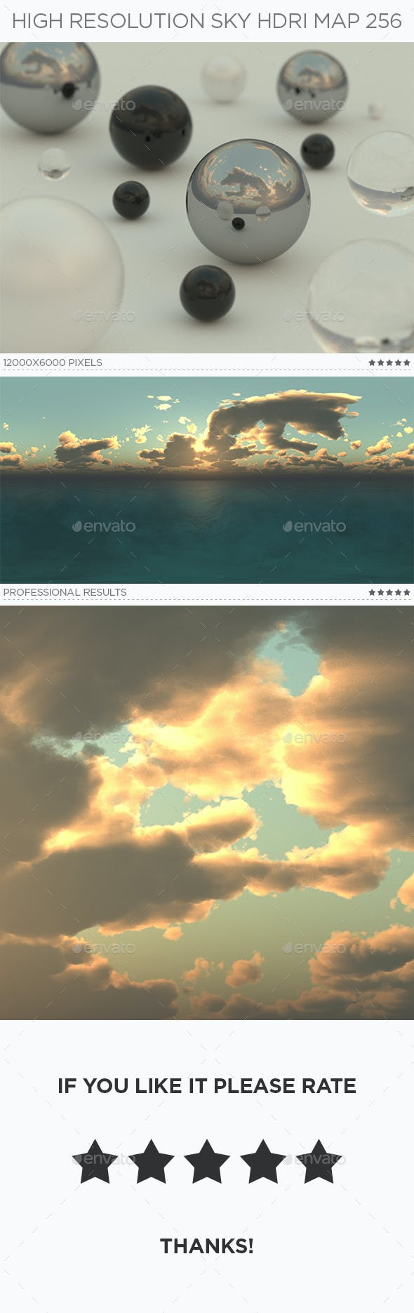 High Resolution Sky HDRi Map 256 - 3DOcean Item for Sale