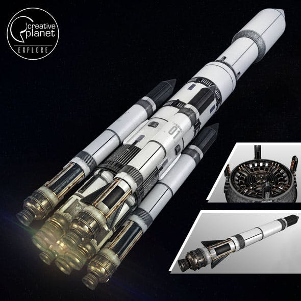Space sci-fi ship rocket high detail - 3DOcean Item for Sale