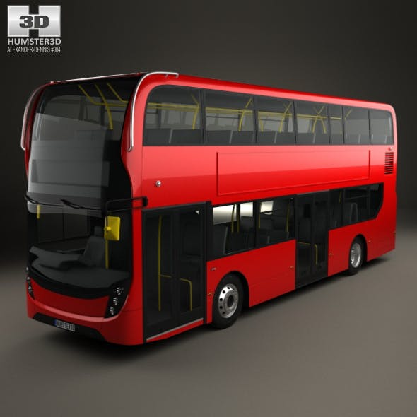 Alexander Dennis Enviro400 Double Decker Bus 2015 - 3DOcean Item for Sale