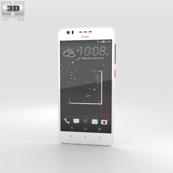 HTC Desire 825 White Splash - 3DOcean Item for Sale