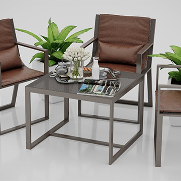 Outdoor Chair and Table Set