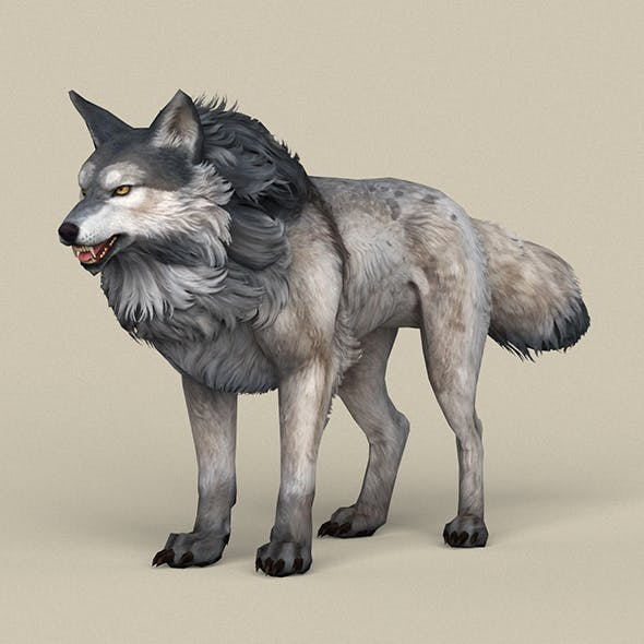 Game Ready Wolf - 3DOcean Item for Sale