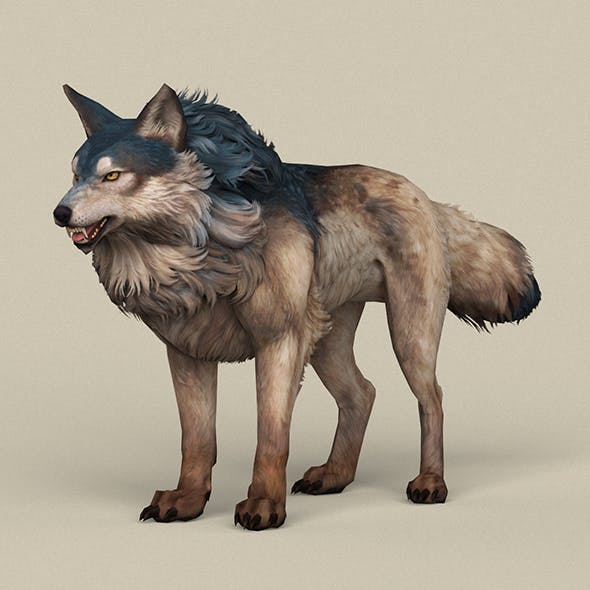 Game Ready Wild Wolf - 3DOcean Item for Sale