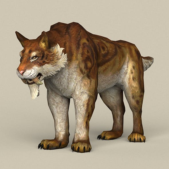 Game Ready Sabertooth - 3DOcean Item for Sale