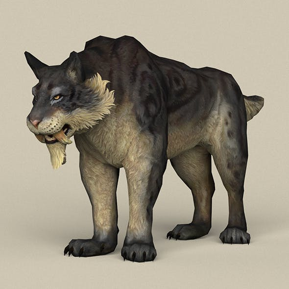 Game Ready Fantasy Sabertooth - 3DOcean Item for Sale