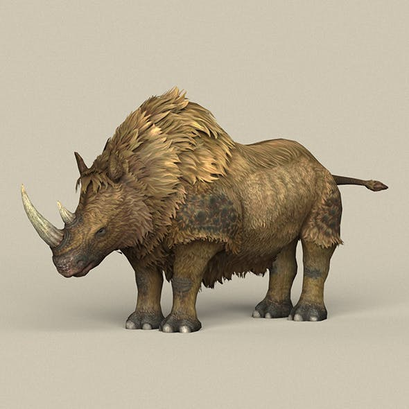 Game Ready Ice Age Rhinoceros - 3DOcean Item for Sale