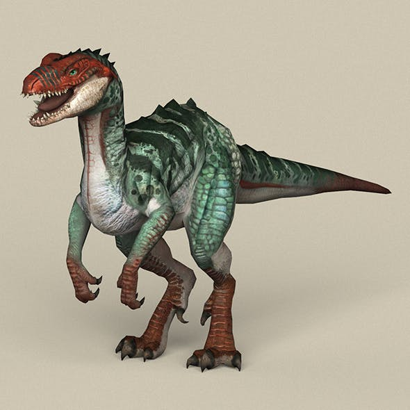 Game Ready Fantasy Raptor - 3DOcean Item for Sale