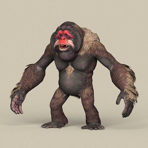 Game Ready Fantasy Orangutan - 3DOcean Item for Sale