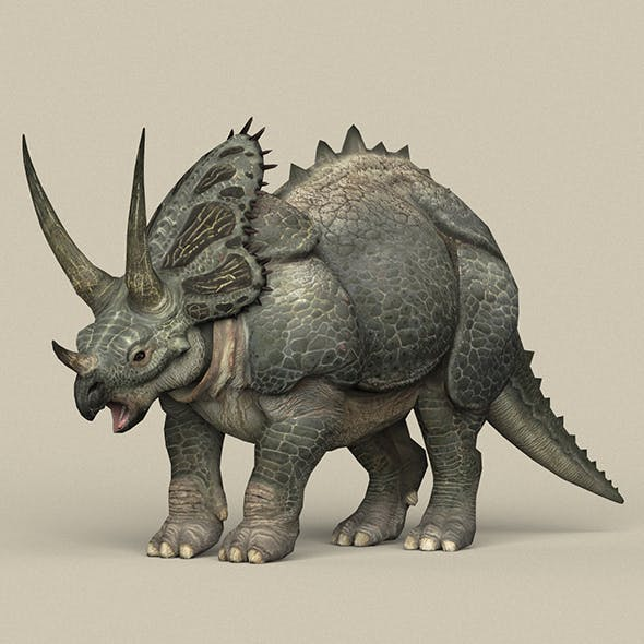 Game Ready Dinosaur Triceratops - 3DOcean Item for Sale