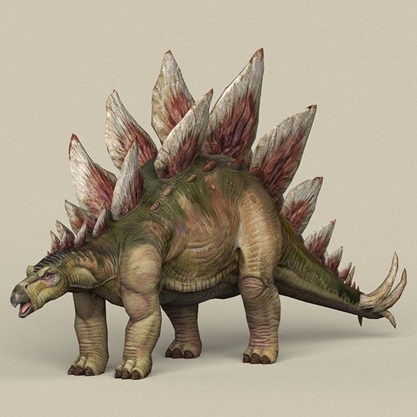 Game Ready Dinosaur Stegosaurus - 3DOcean Item for Sale