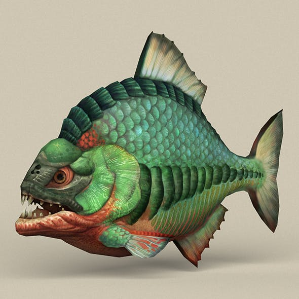 Game Ready Fantasy Fish - 3DOcean Item for Sale