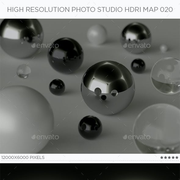 High Resolution Photo Studio HDRi Map 020