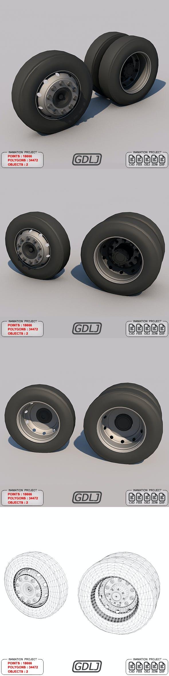 wheels tire - 3DOcean Item for Sale