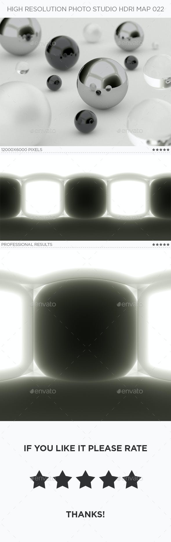 High Resolution Photo Studio HDRi Map 022 - 3DOcean Item for Sale