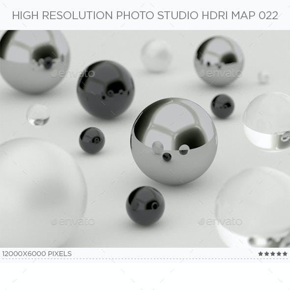High Resolution Photo Studio HDRi Map 022