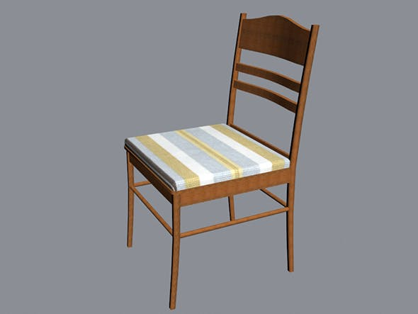 3D chair low-poly - 3DOcean Item for Sale