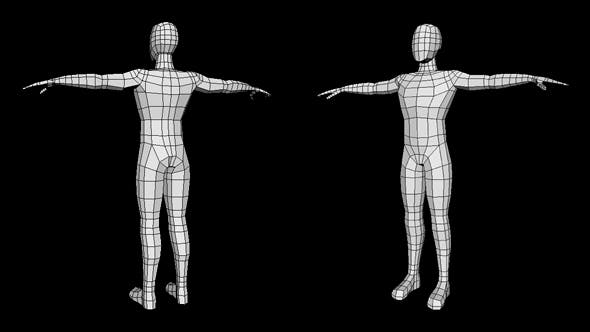 Human Male Low Poly Base Mesh - 3DOcean Item for Sale