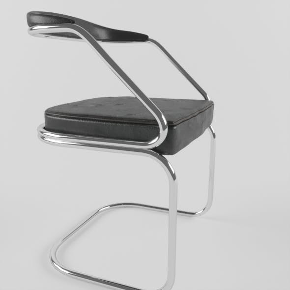chair Black Leather - 3DOcean Item for Sale