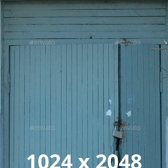 Blue Painted Wooden Back Door