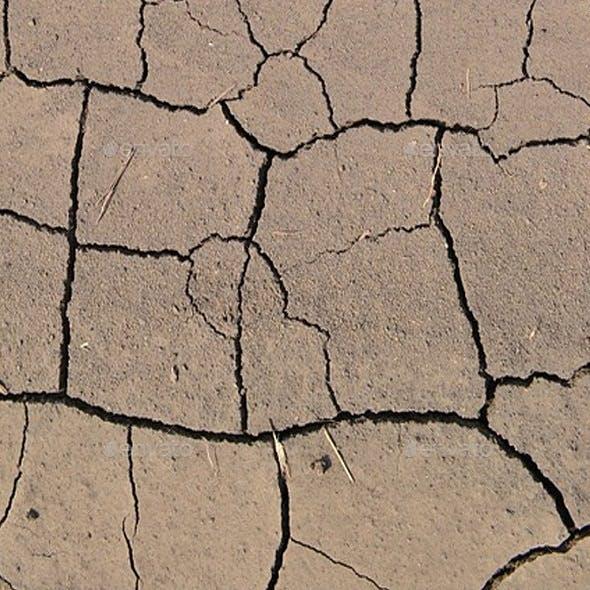 Ground Texture Desert Cracks