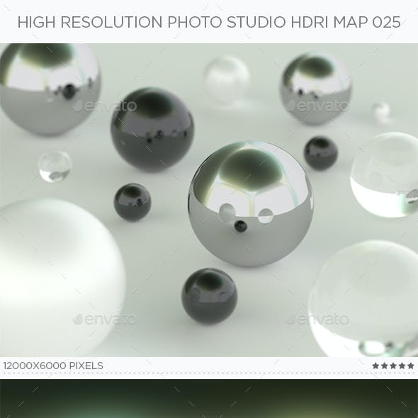 High Resolution Photo Studio HDRi Map 025