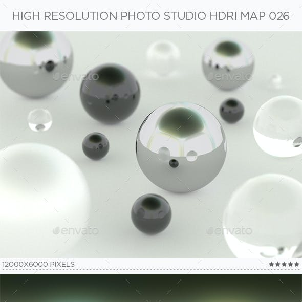 High Resolution Photo Studio HDRi Map 026