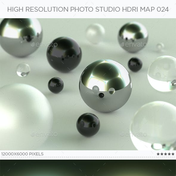 High Resolution Photo Studio HDRi Map 024