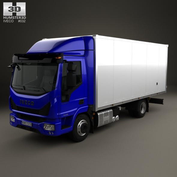 Iveco EuroCargo 75-210 Box Truck 2015 - 3DOcean Item for Sale