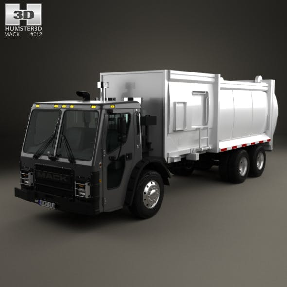 Mack LR Garbage Truck 2015 - 3DOcean Item for Sale