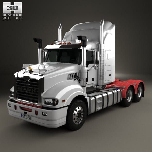 Mack Trident Axle Back High Rise Sleeper Cab Tractor Truck 2008 - 3DOcean Item for Sale