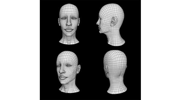 Human Male Head Low Poly Base Mesh - 3DOcean Item for Sale