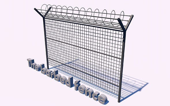 The barbed fence - 3DOcean Item for Sale